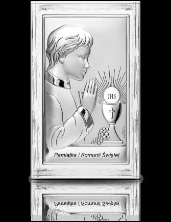 Pamiątka I Komunii dla chłopca: obrazek srebrny - Valenti & Co