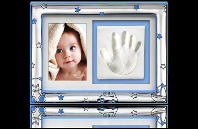 Ramka na zdjęcie i odcisk: Pamiątka narodzin lub na roczek