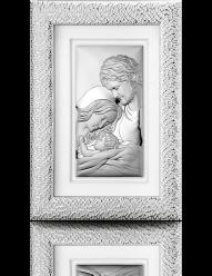 Święta Rodzina - obraz srebrny w ramie za szkłem