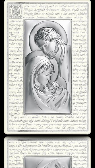 Święta Rodzina: Obraz srebrny na drewnianym panelu - Beltrami