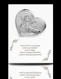 Aniołek z latarenką: obrazek na białym drewnie - Valenti & Co