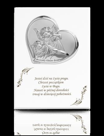 Aniołek z latarenką: obrazek na białym drewnie - Beltrami