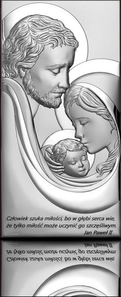 Święta Rodzina: Obraz srebrny z cytatem - Beltrami