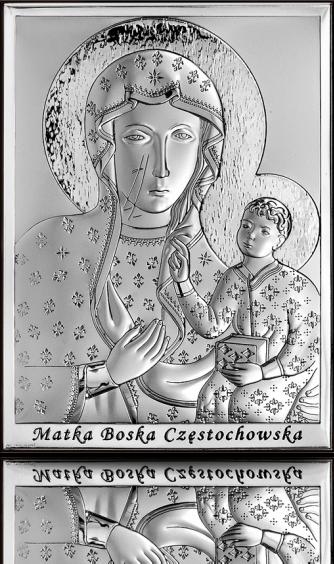 Matka Boska Częstochowska: srebrny obrazek - Beltrami