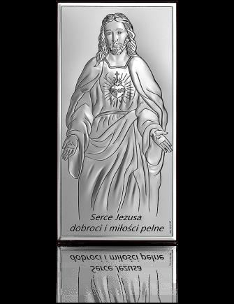 Jezus Chrystus: obrazek srebrny - Beltrami