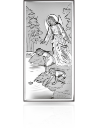 Anioł Stróż nad dziećmi: obrazek srebrny - Beltrami
