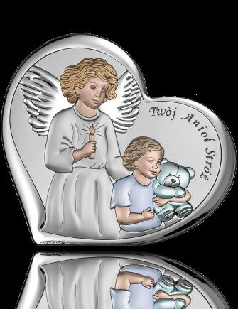 Pamiątka Chrztu Świętego: obrazek srebrny - Beltrami