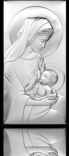 Matka Boska Karmiąca: obrazek srebrny - Beltrami
