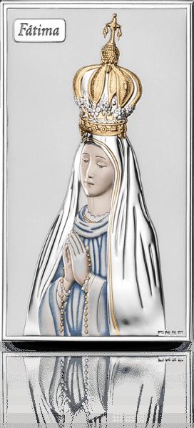 Madonna Fatimska: srebrna ikona - Valenti & Co