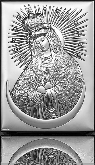 Matka Boska Ostrobramska: srebrny obrazek - Beltrami