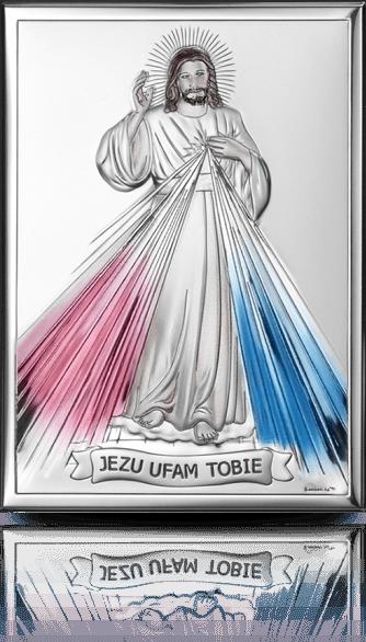 Jezu Ufam Tobie: obrazek srebrny - Valenti & Co