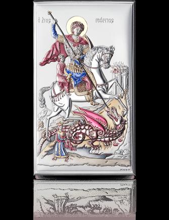 Święty Jerzy: srebrna ikona - Valenti & Co
