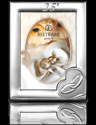 Srebrna ramka na zdjęcie: pamiątka na 25 rocznicę - Beltrami