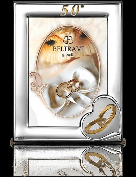 Srebrna ramka na zdjęcie: pamiątka na 50 rocznicę - Beltrami