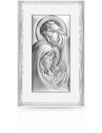 Święta Rodzina: Obraz srebrny na białym panelu - Beltrami
