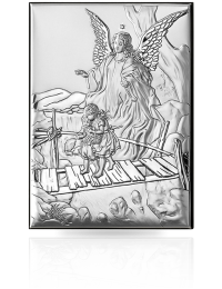 Anioł Stróż: obrazek srebrny - Valenti & Co