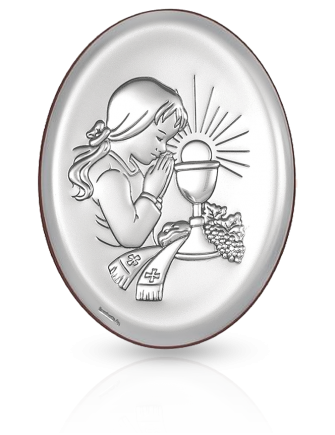 Pamiątka dla dziewczynki: obrazek srebrny - Beltrami