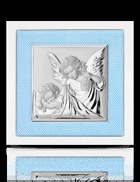 Aniołek z latarenką: obrazek srebrny - Valenti & Co