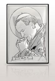 Jan Paweł II: obrazek srebrny